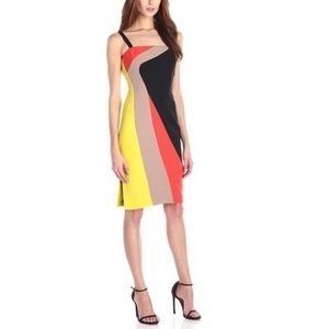 Milly Cady Dahlia Colorblock Dress